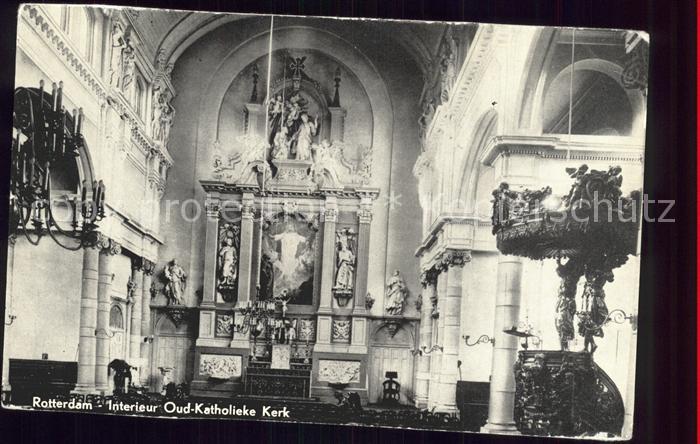 Rotterdam Interieur Oud Katholieke Kerk Kirche Kanzel Altar Kat ...