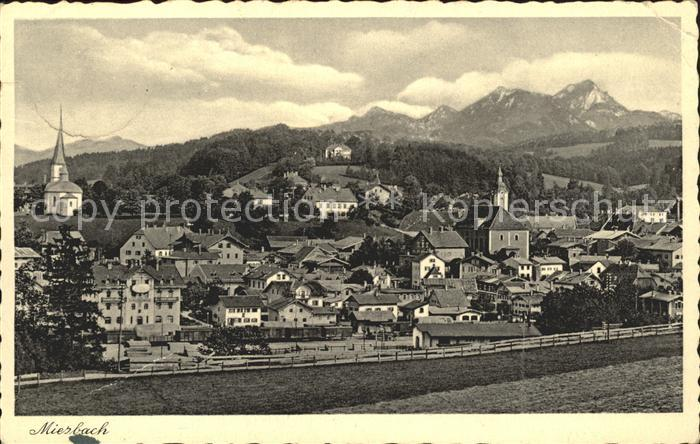 Miesbach Gesamtansicht mit Alpenpanorama Kat. Miesbach