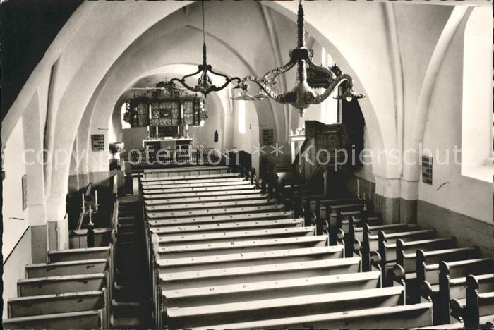 Boldixum Inneres St. Nicolai Kirche Kat. Wyk auf Foehr