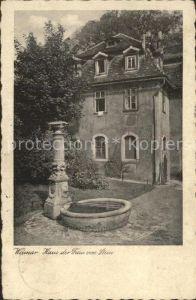 Weimar Thueringen Haus der Frau von Stein Brunnen Kat. Weimar