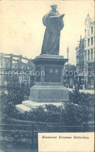 Rotterdam Monument Erasmus Rotterdam Kat. Rotterdam