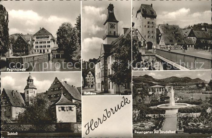Hersbruck Pegnitz Wassertor Schloss Rosengarten Kat. Hersbruck