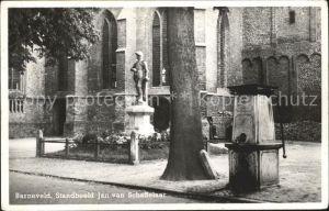 Barneveld Gelderland Standbeeld Jan van Schaffelaar Kat. Barneveld