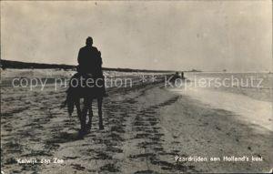 Katwijk Reiter mit Pferd Kat. Katwijk