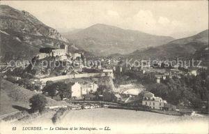 Lourdes Hautes Pyrenees Chateau et les Montagnes Kat. Lourdes