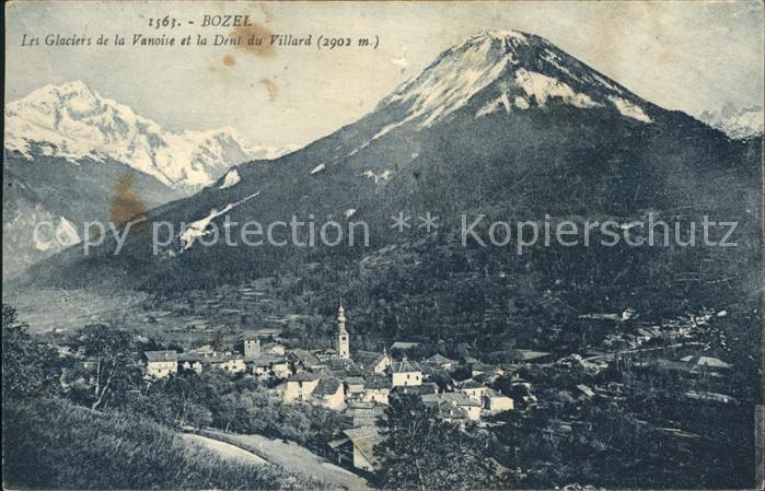 Bozel Panorama Glaciers de la Vanoise et Dent du Villard Kat. Bozel