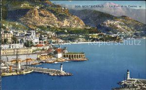 Monte Carlo Le Port et le Casino Phare Kat. Monte Carlo