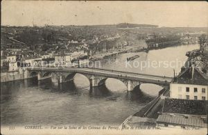 Corbeil-Essonnes Vue sur la Seine Pont Coteaux du Perray / Corbeil-Essonnes /Arrond. d Evry