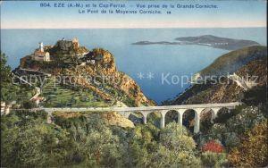 Eze Alpes-Maritimes et Cap Ferrat Pont de la Moyenne Corniche / Eze /Arrond. de Nice