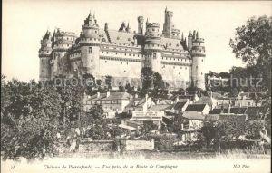 Pierrefonds Oise Chateau vue prise de la Route de Compiegne Kat. Pierrefonds