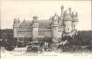 Pierrefonds Oise Chateau vue prise de la Roche Kat. Pierrefonds
