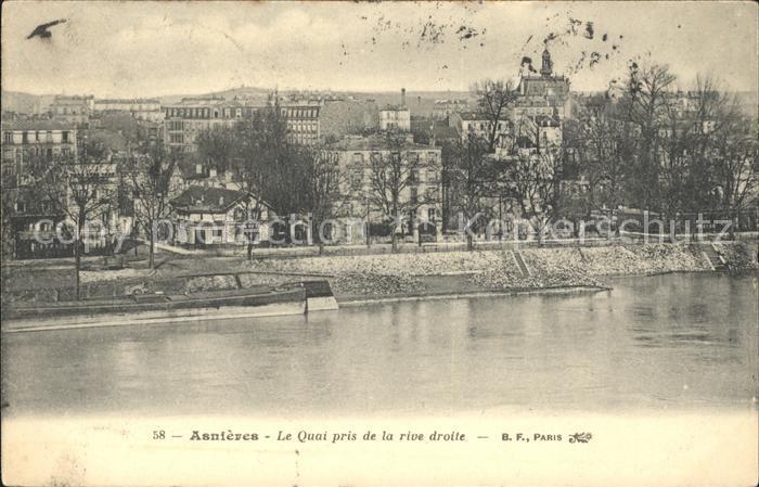 Asnieres Eure Quai vue prise de la rive droite / Asnieres /Arrond. de Bernay