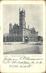 Philadelphia Pennsylvania Masonic Temple Monument Kat. Philadelphia