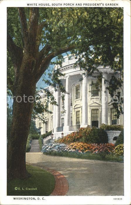Washington DC White House Presidents Garden Kat. Washington