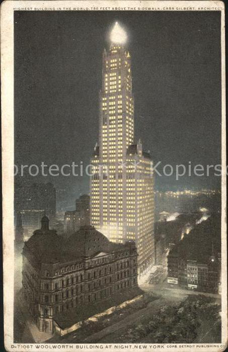 New York City Woolworth Building at night highest building in the world / New York /