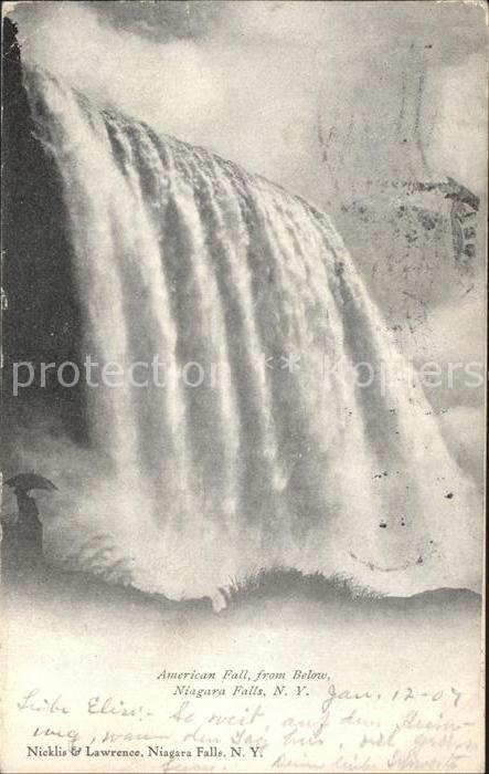 Niagara Falls New York American Falls from below Kat. Niagara Falls
