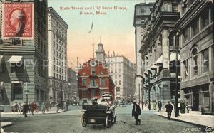 Boston Massachusetts State Street and Old State House Kat. Boston