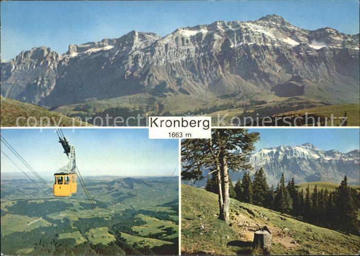 Kronberg Saentis Panorama Luftseilbahn Jakobsbad Kronberg Kat. Kronberg