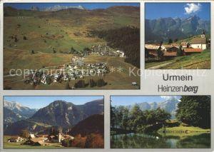 Urmein Heinzenberg Panorama Teilansichten Kat. Urmein