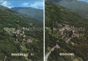 Roveredo TI und Bidogno Panorama Kat. Roveredo TI