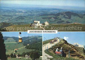 Gonten Panorama Luftseilbahn Jakobsbad Kronberg Kat. Gonten