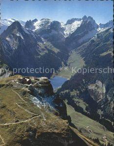 Hoher Kasten Panorama mit Berggasthaus Hoher Kasten Kat. Appenzeller Alpen