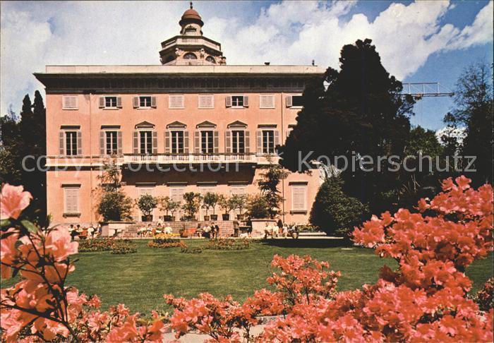 Lugano TI Il parco con Villa Ciani Kat. Lugano