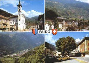 Faido Dorfpartie mit Kirche Ortsansichten Kat. Faido