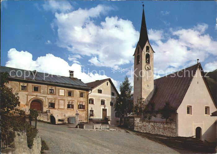 Guarda Inn Dorfpartie mit Kirche Kat. Guarda