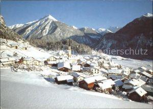 Alvaneu Dorf mit Muchetta und Piz Uertsch Kat. Alvaneu Dorf