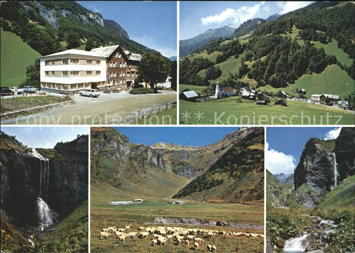 Weisstannen Hotel Gemse Wasserfall Schafherde Ortsblick Kat. Weisstannen