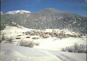 Alvaneu Dorf im Albulatal Panorama Kat. Alvaneu Dorf