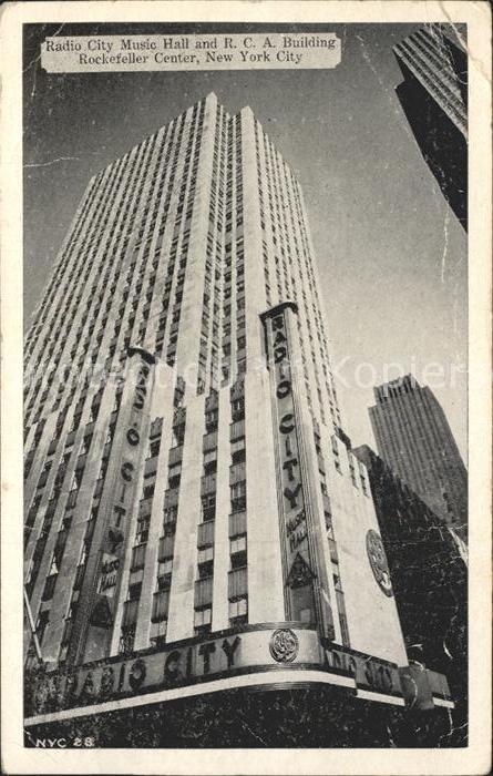 New York City Radio City Music Hall and RCA Building Rockefeller Center Skyscraper / New York /