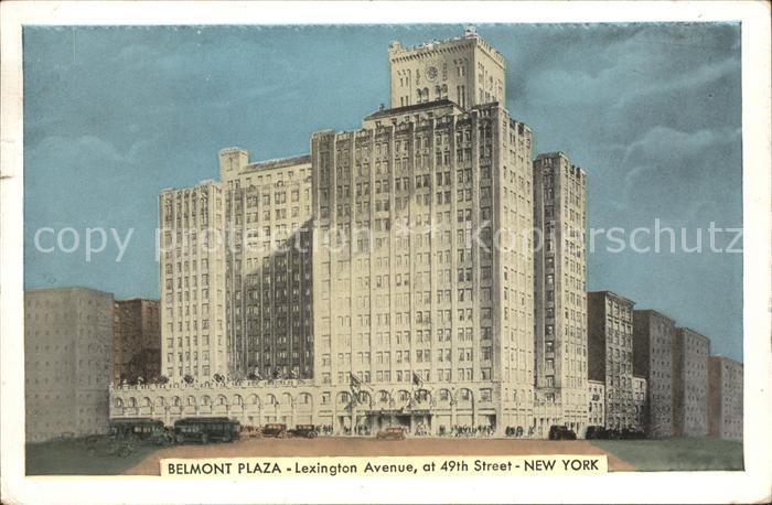 New York City Hotel Belmont Plaza Lexington Avenue / New York /
