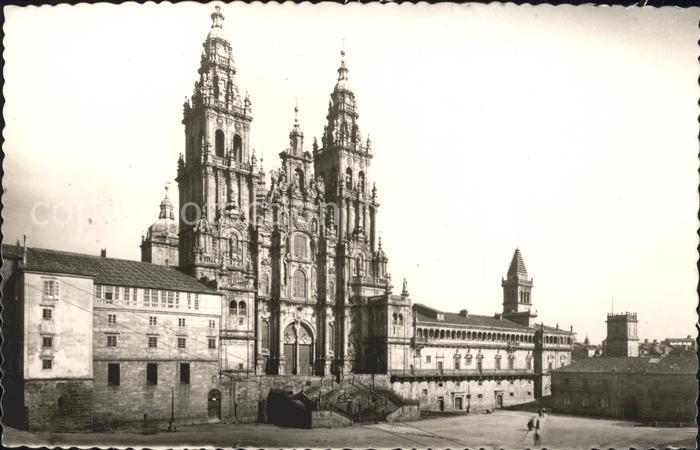 Santiago de Compostela Catedral Fachada del Obradoiro Kat. Santiago de Compostela