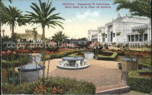Sevilla Andalucia Reloj Solar de la Plaza de America Exposicion Hispano Americana Kat. Sevilla