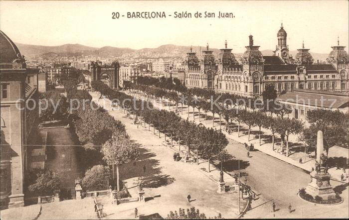 Barcelona Cataluna Salon de San Juan Monumento Kat. Barcelona