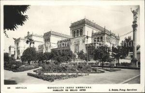 Sevilla Andalucia Exposicion Ibero Americana Pabellon de Bellas Artes Kat. Sevilla