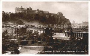 Edinburgh Castle and National Gallery Kat. Edinburgh