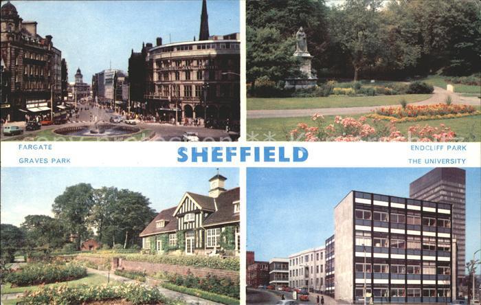 Sheffield Fargate Endciff Park Graves Park University Kat. Sheffield