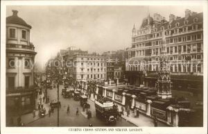 London Charing Cross Station and Strand Kat. City of London
