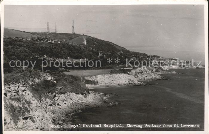 Ventnor Isle of Wight Royal National Hospital from St Lawrence / Isle of Wight /Isle of Wight