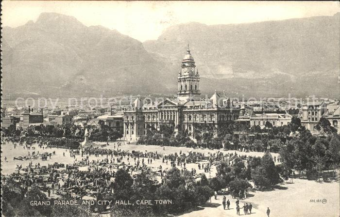Cape Town Kaapstad Kapstadt Grand Parade and City Hall Mountains Valentines Series Kat. Cape Town