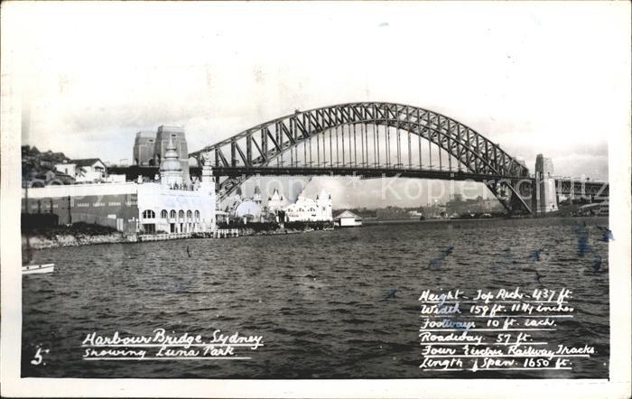 Sydney New South Wales Harbour Bridge Luma Park Kat. Sydney