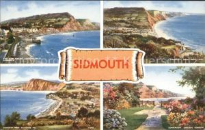 Sidmouth Town View from Peak Hill Salcombe Hill Connaught Gardens Esplanade Kat. East Devon