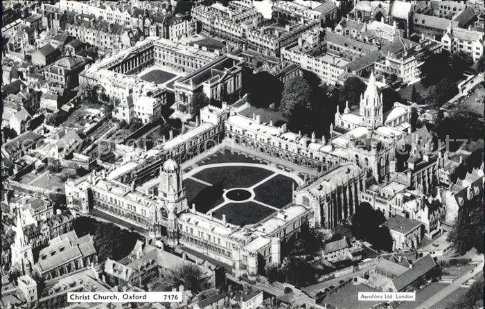Oxford Oxfordshire Christ Church aerial view / Oxford /Oxfordshire