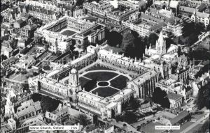 Oxford Oxfordshire Christ Church aerial view / Oxford /Oxfordshire