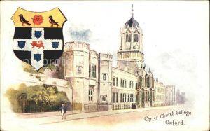 Oxford Oxfordshire Christ Church College Wappen / Oxford /Oxfordshire