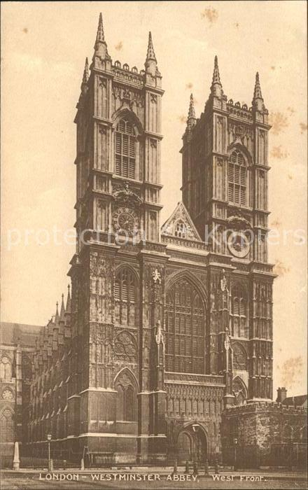 London Westminster Abbey West Front Kat. City of London