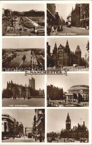 Manchester Piccadilly Cross Street Canal University Cathedral St Peter s Square Oxford Road Town Hall Kat. Manchester